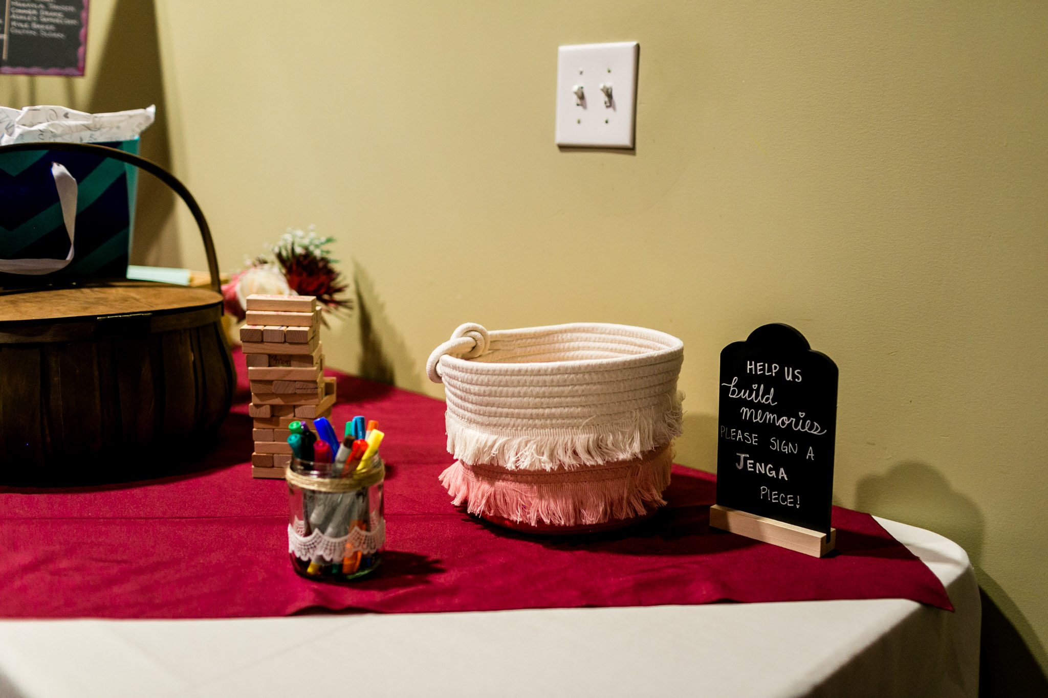 Guest book table at reception | Raleigh Wedding Photographer | By G. Lin Photography