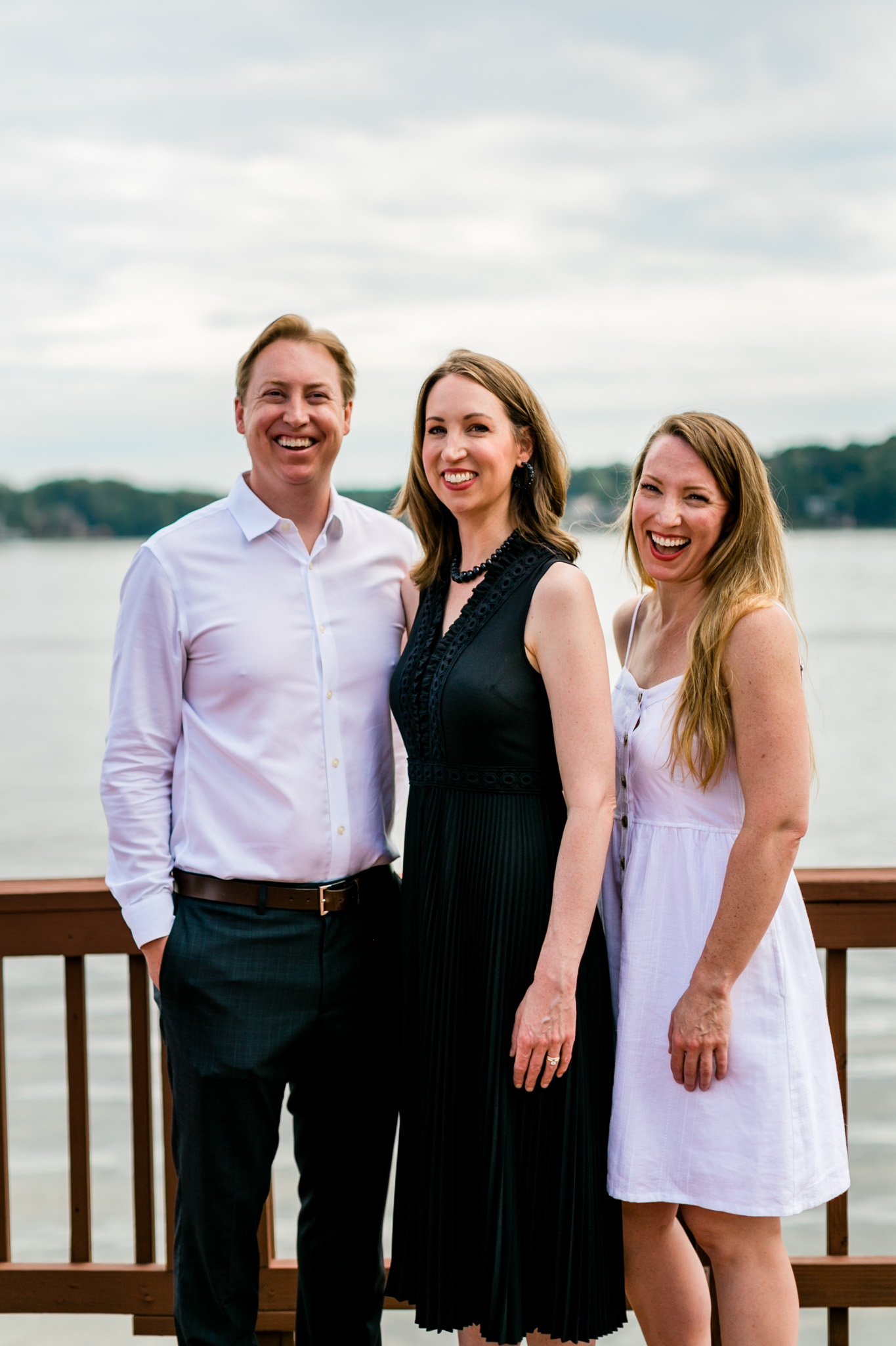 Sibling portrait of brother and two sisters | Raleigh Family Photographer | By G. Lin Photography