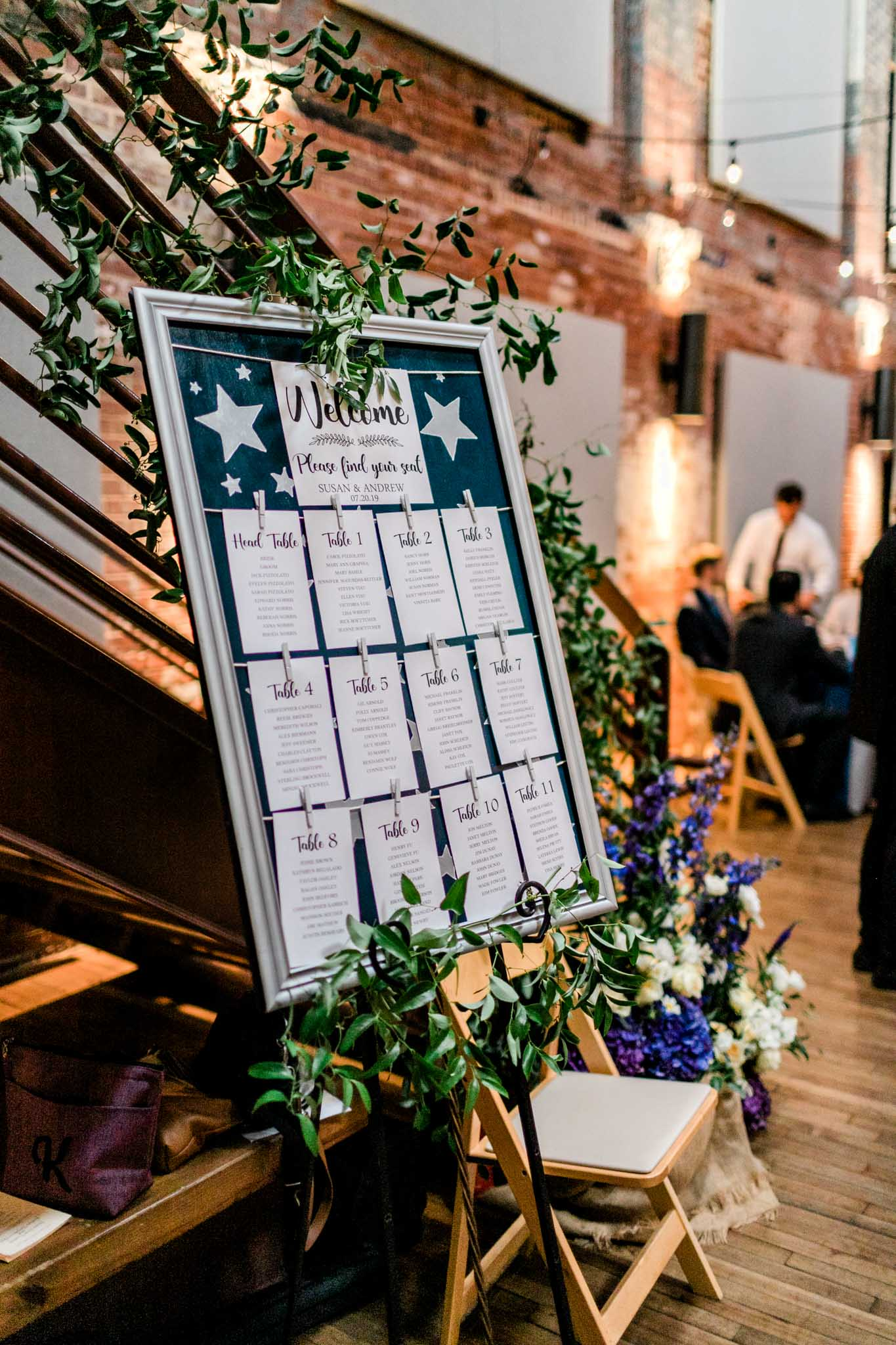 Haw River Ballroom Wedding | Durham Photographer | By G. Lin Photography | Seating chart