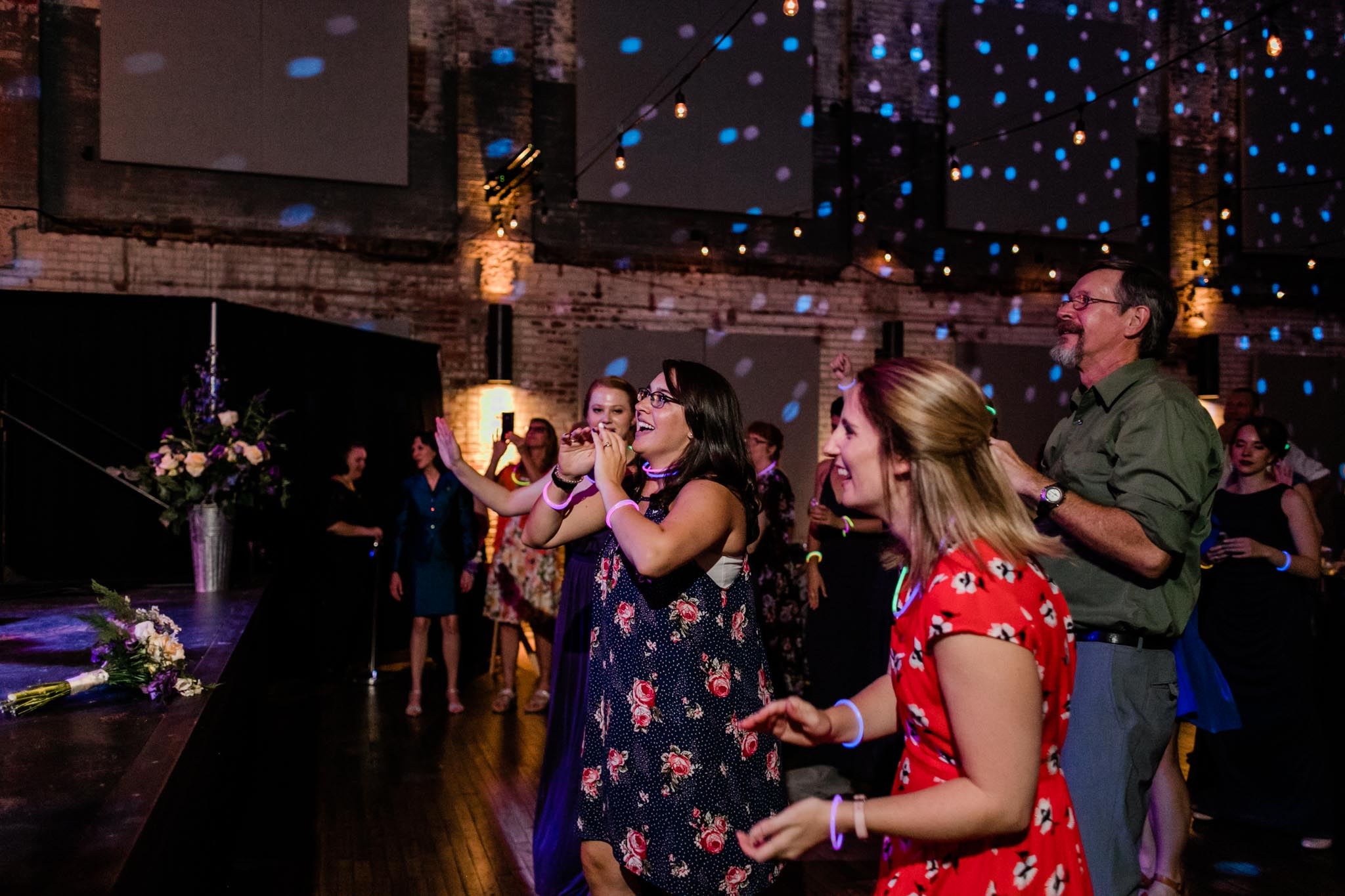 Haw River Ballroom Wedding | Durham Photographer | By G. Lin Photography | Wedding guests cheering
