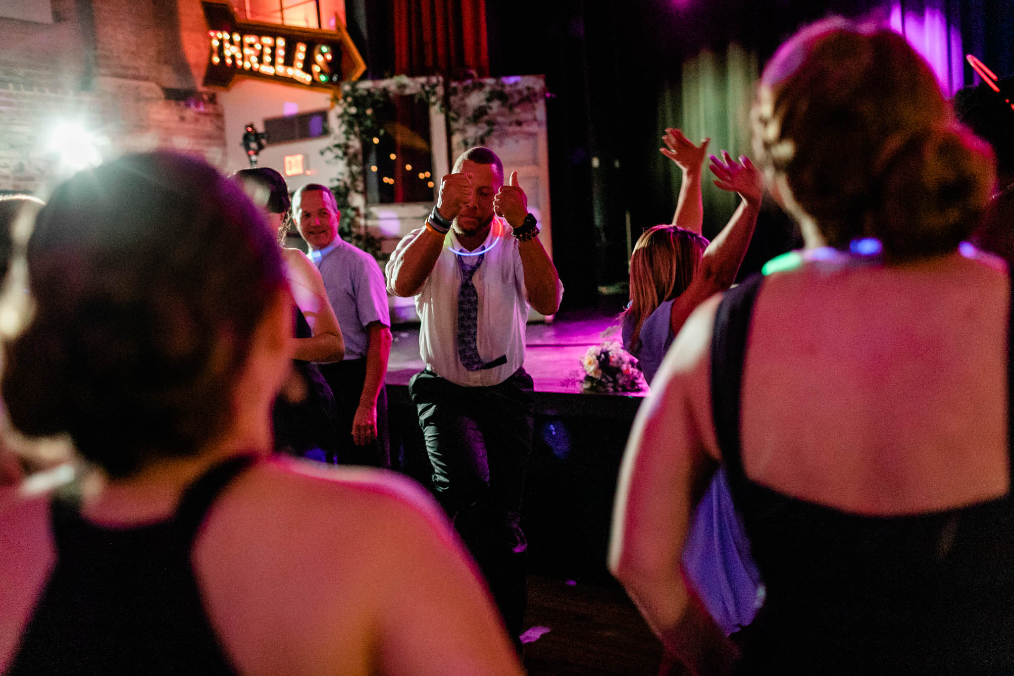 Haw River Ballroom Wedding | Durham Photographer | By G. Lin Photography | Man dancing during reception
