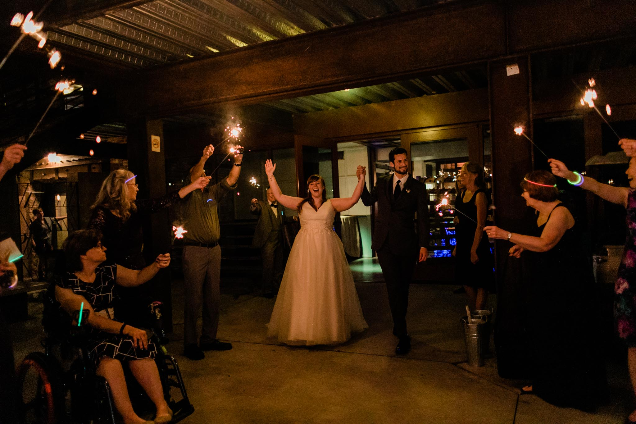 Haw River Ballroom Wedding | Durham Photographer | By G. Lin Photography | Sendoff of bride and groom