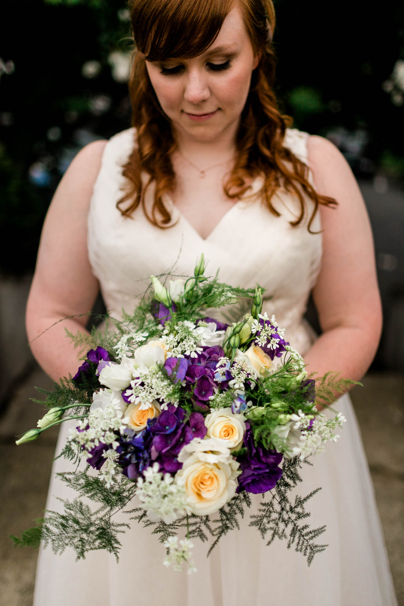 Haw River Ballroom Wedding   By G. Lin Photography   Durham Wedding Photographer   Bride with bouquet