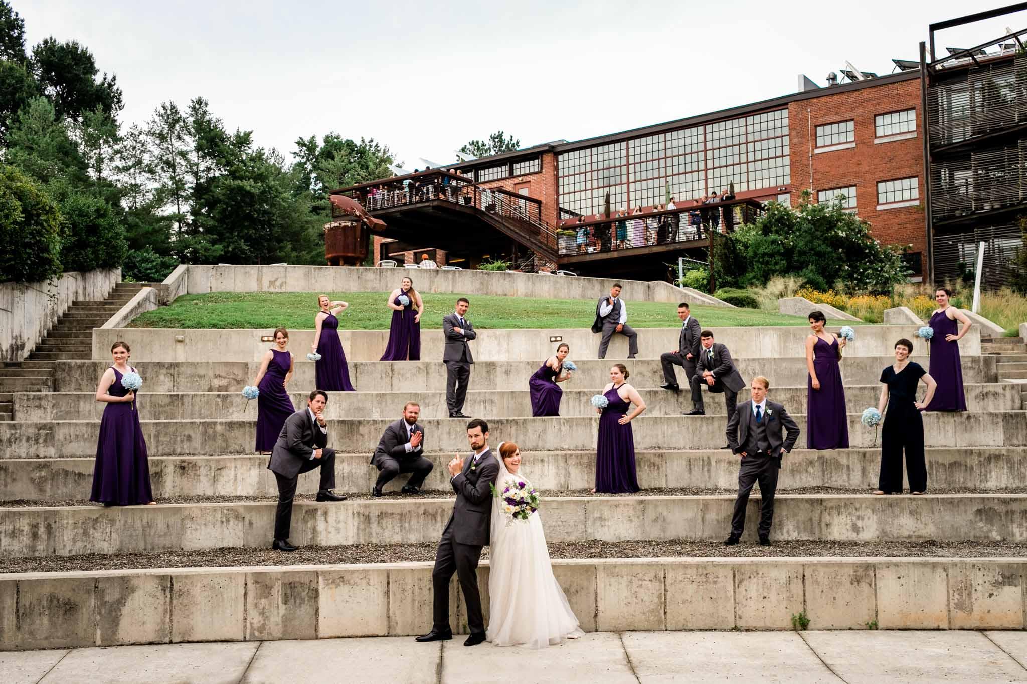 Haw River Ballroom Wedding   Portrait of wedding party   Durham Wedding Photographer   By G. Lin Photography