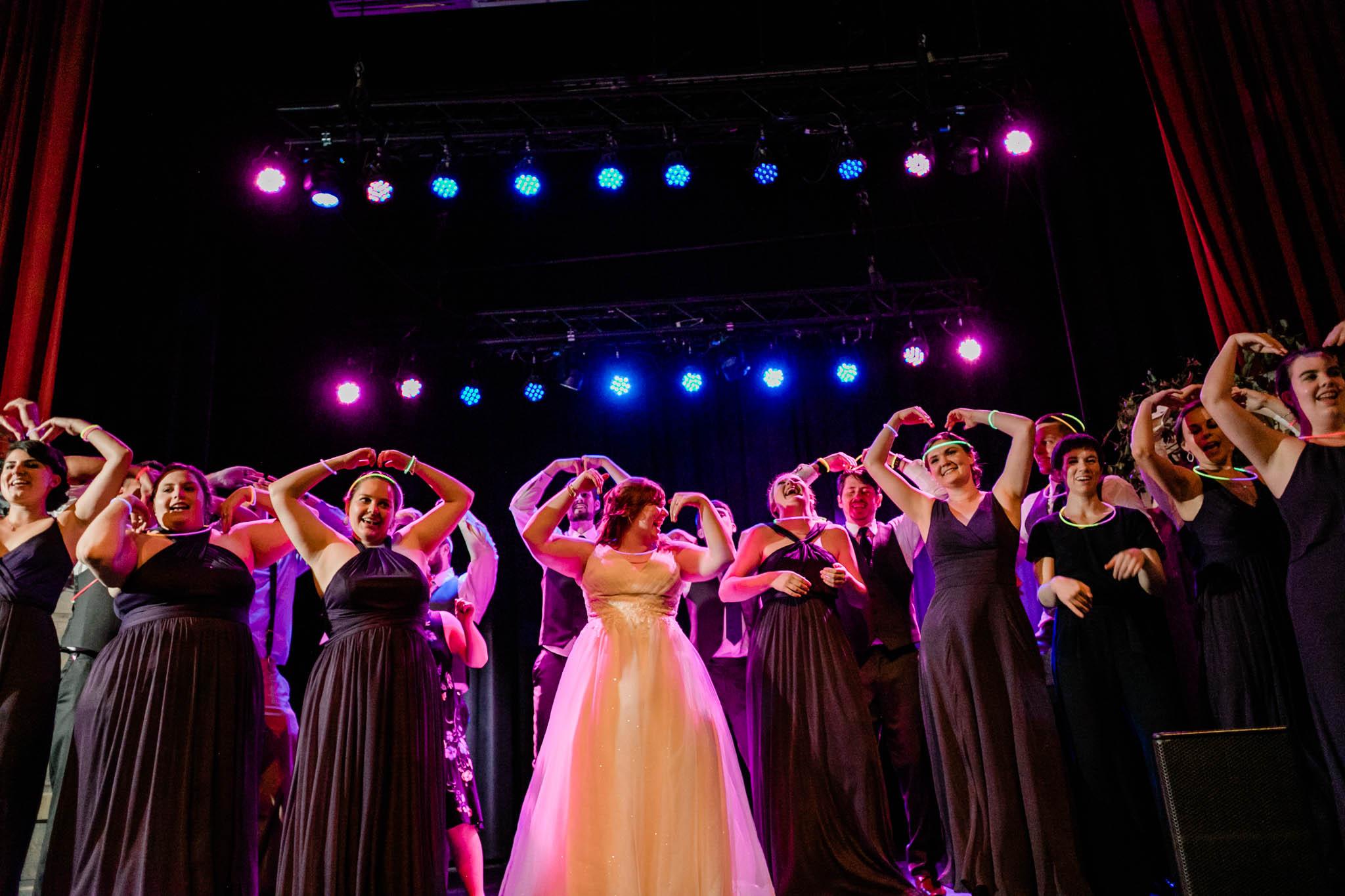 Haw River Ballroom Wedding   Durham Wedding Photographer   By G. Lin Photography   Wedding party dancing to YMCA