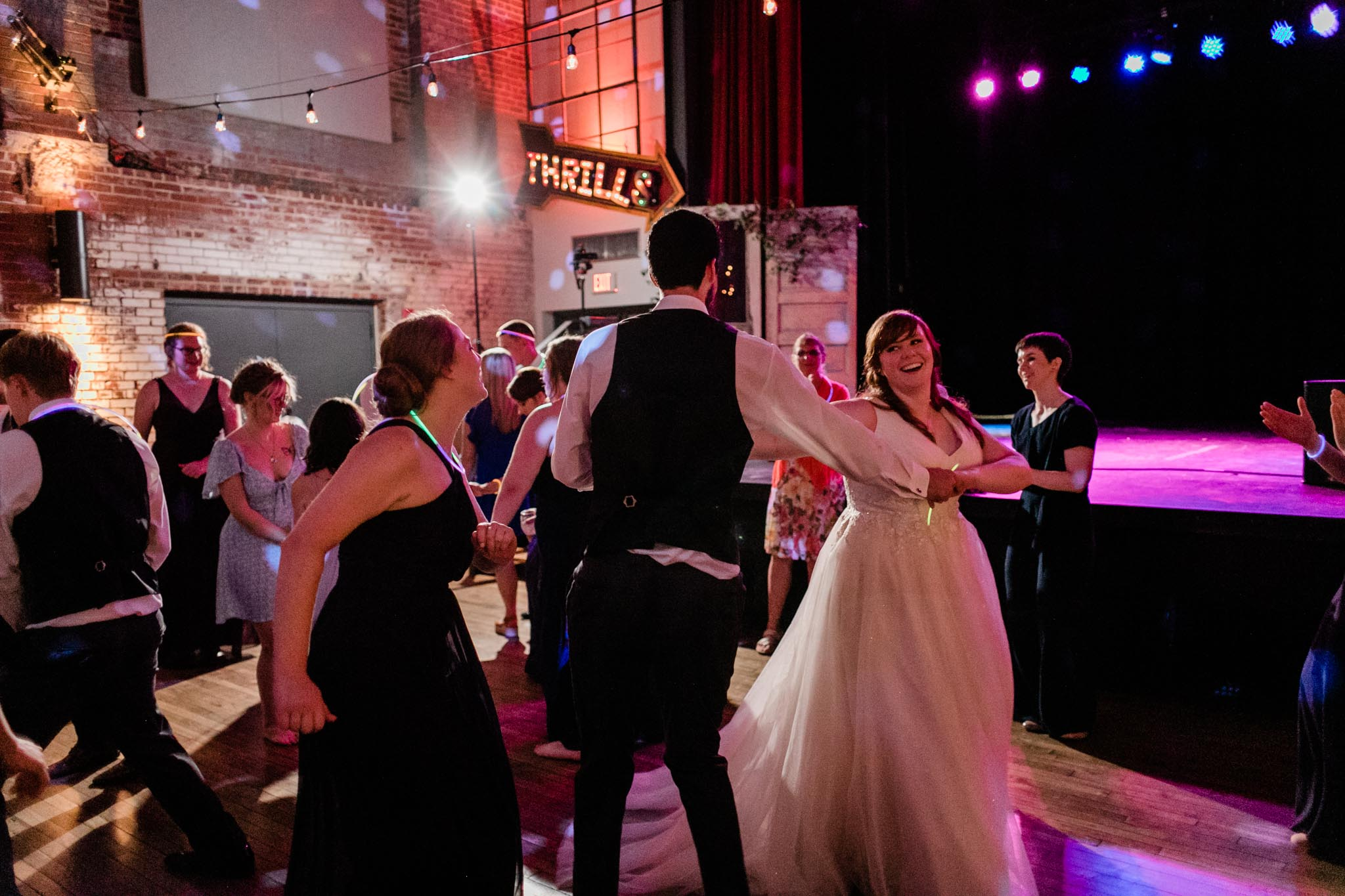 Haw River Ballroom Wedding | Durham Wedding Photographer | By G. Lin Photography | Bride and couple dancing at reception