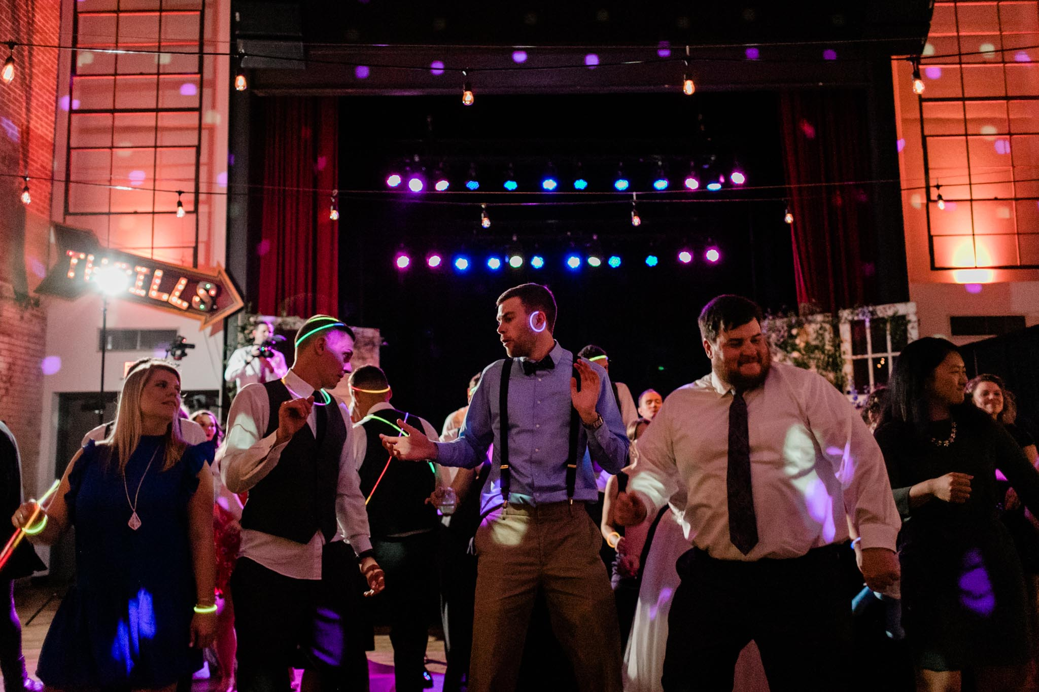 Haw River Ballroom Wedding | Durham Photographer | By G. Lin Photography | Guests dancing at wedding