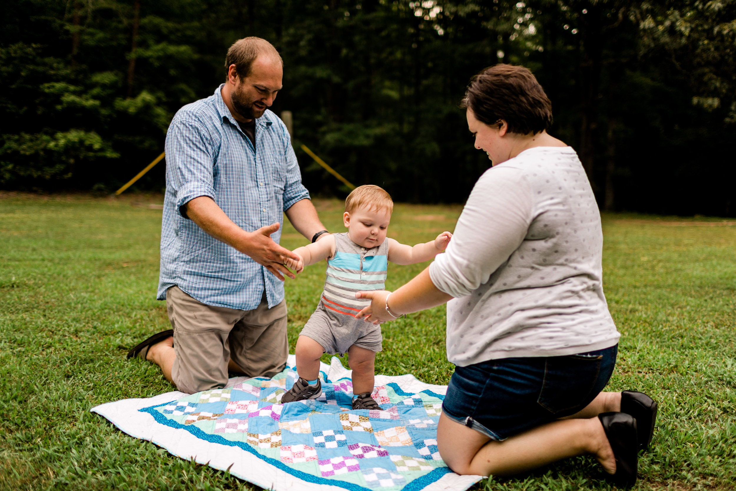 Baby learning how to walk | Durham Family Photographer | By G. Lin Photography