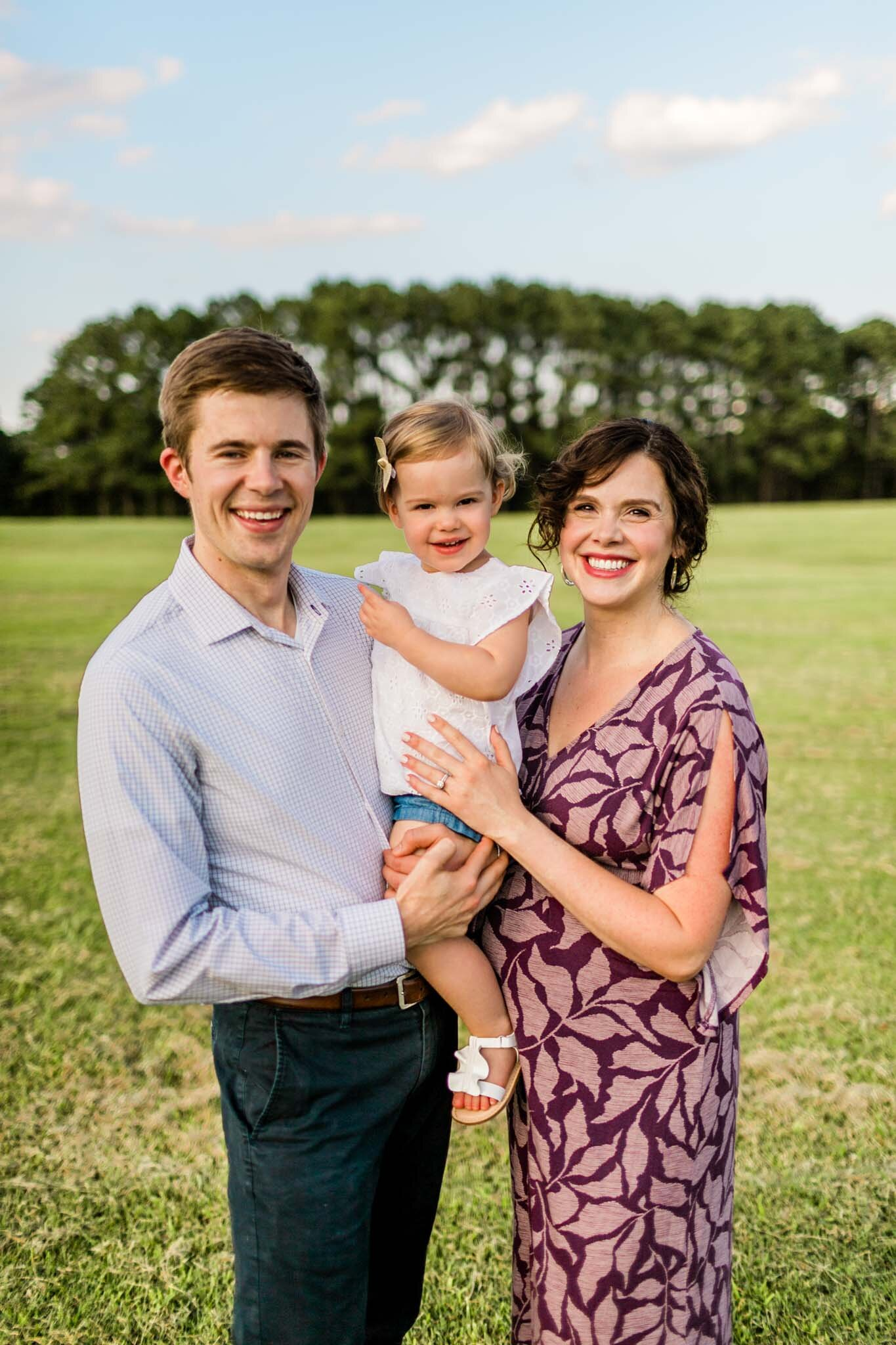 Sunset outdoor family portrait | Raleigh Family Photographer | By G. Lin Photography