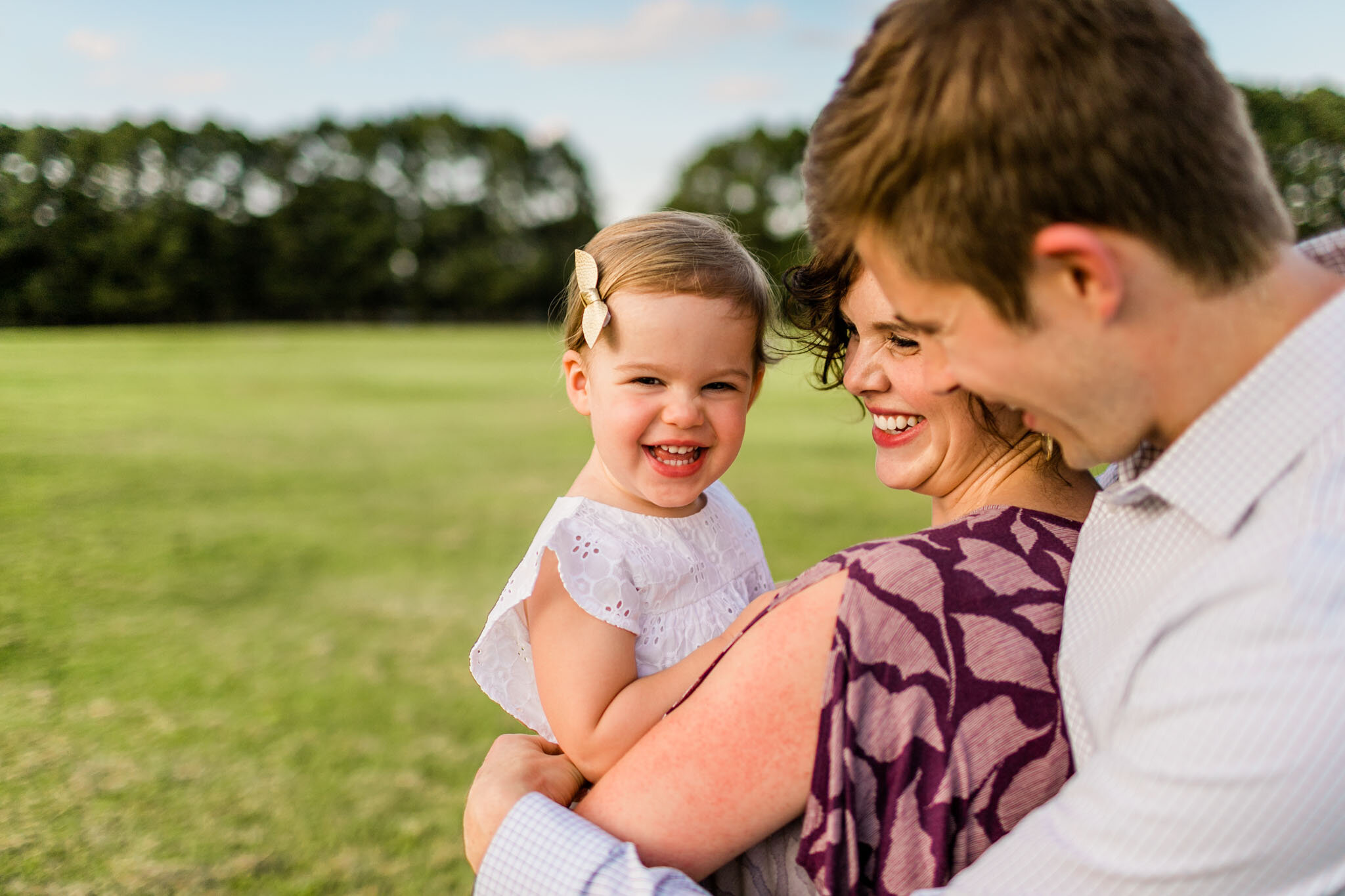 Raleigh Family Photographer | By G. Lin Photography | Dix Park sunset family portraits