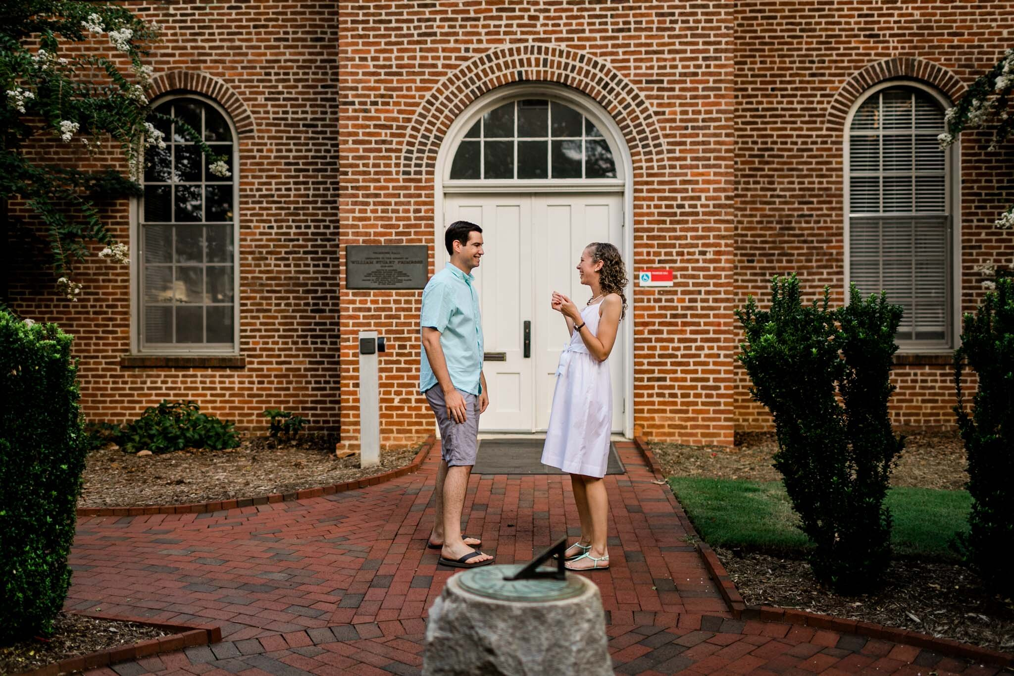 Engagement Photography at NC State | Primrose Hall | By G. Lin Photography | Raleigh Proposal Photographer