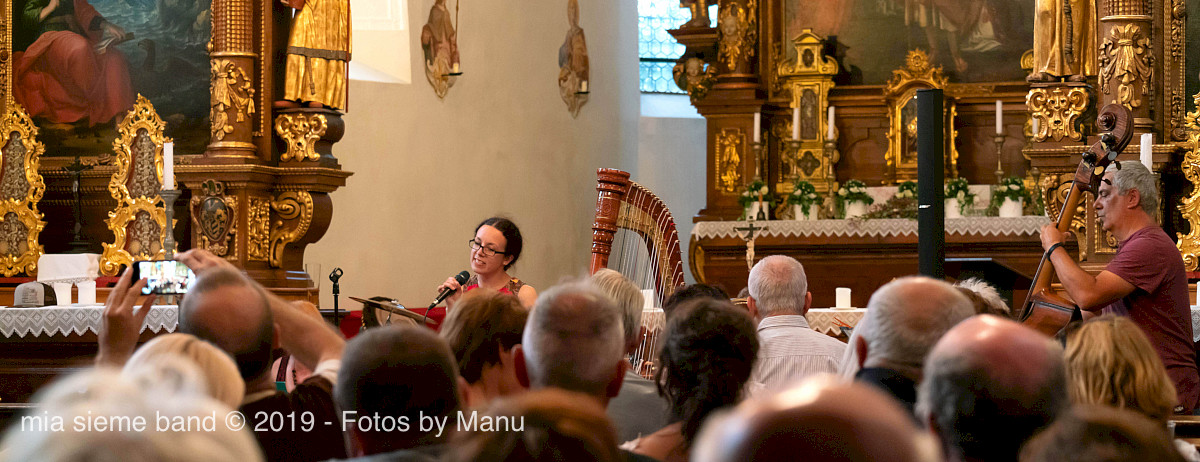 Der zweite Teil unseres Konzertes - in der Kirche von Burg Freundsberg