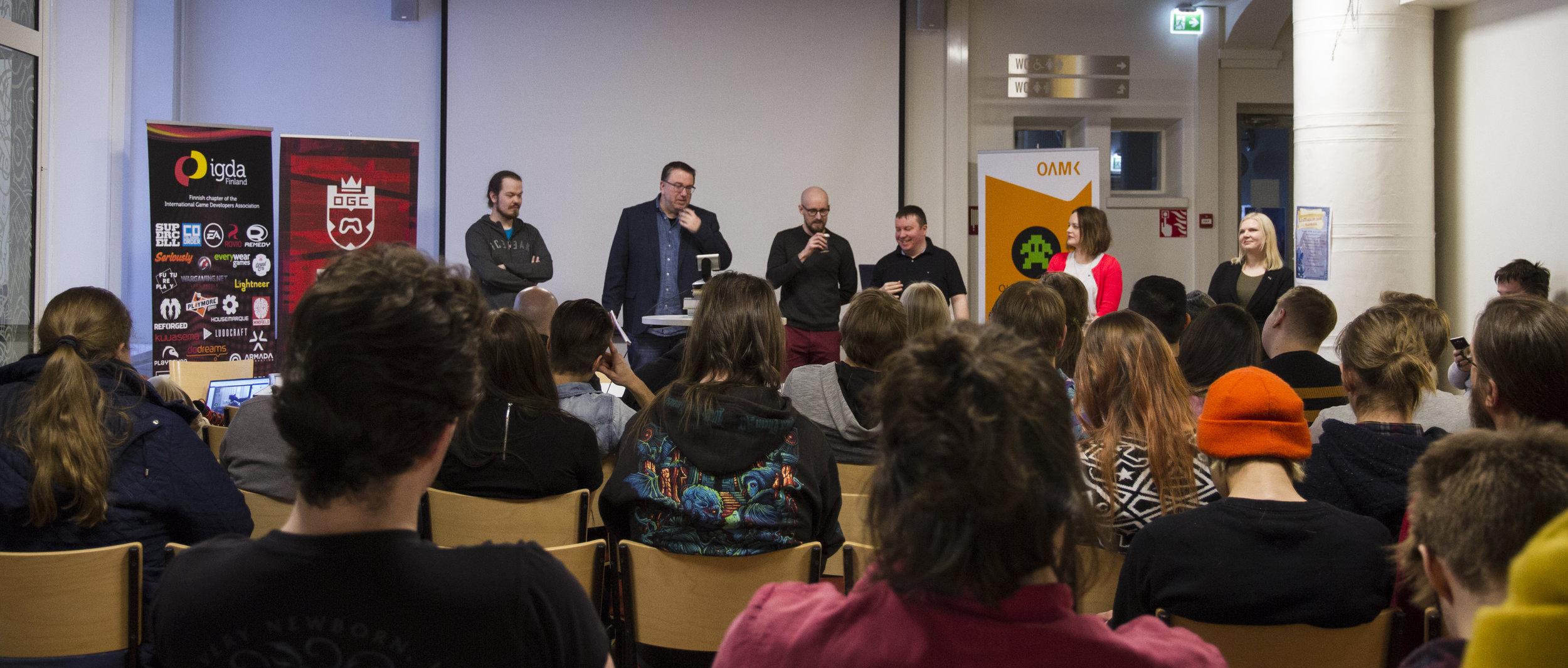 Judges from left to right: Ilpo Alatalo, Henrik Jonsson, Tuomas Soukka, Petri Paananen, and Anne Ryynänen