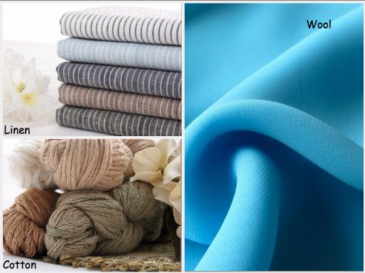 Linen, Cotton, Wool - Natural Materials