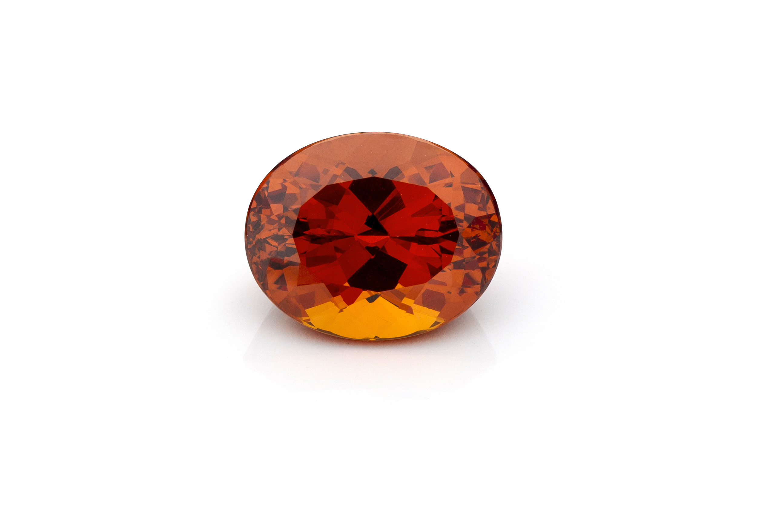 Nigerian Mandarin Garnet     Mandarin Spessartite Garnet is a rare orange garnet, referred to as Mandarin for its orange color. The combination of color and garnet's high refractive index make mandarin garnet one of the most brilliant stones in the world of colorstones. Pure orange known as fanta orange, is very rare and has been found in a few mines in Africa. Top Mandarin Garnets are sought after by collectors.