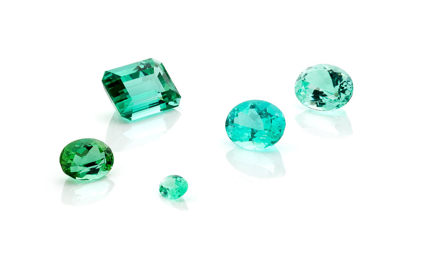 a mix of tourmalines from Brasil, Mozamibique and Namibia