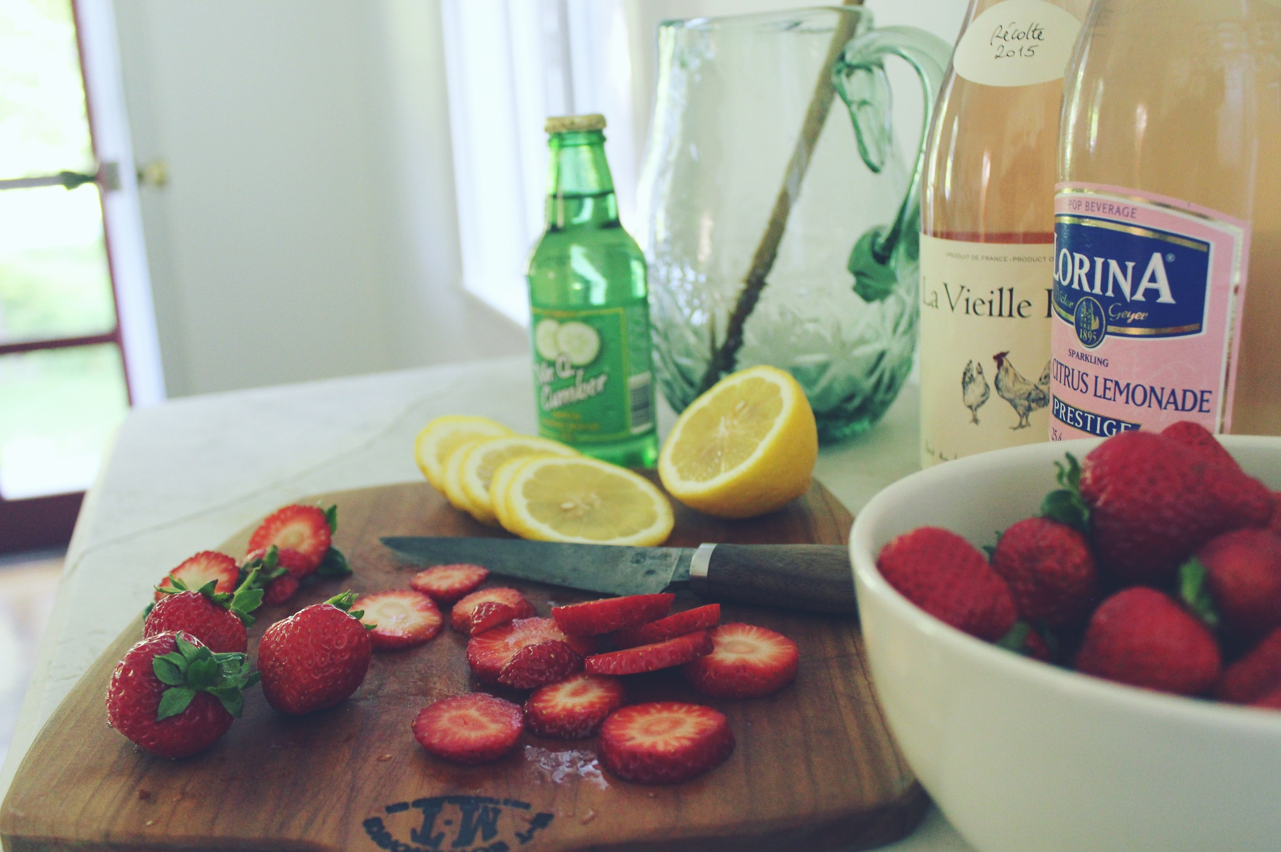 Making Strawberry Moon Sangria with Camden Clay Co.