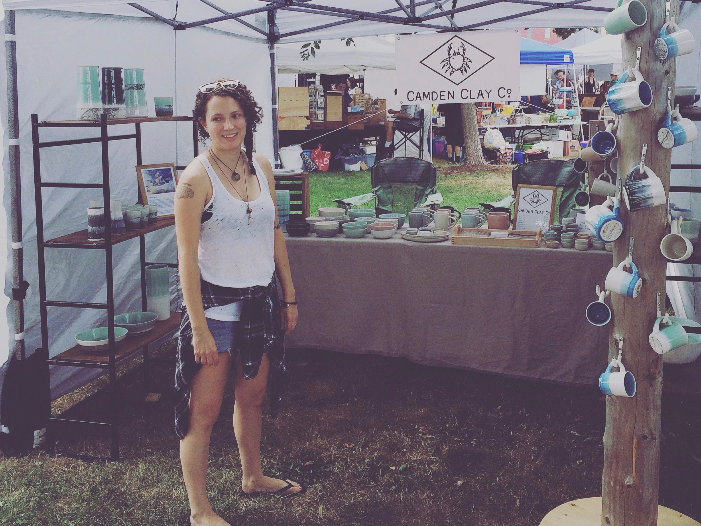 Jess Smith, designer and marketing director, at a craft show.