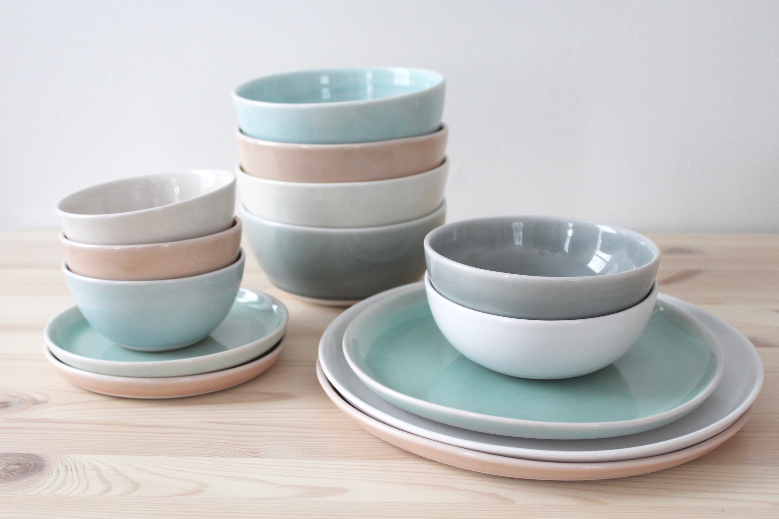 New plate sizes - Bread Plate and Lunch Plate - join the gang!