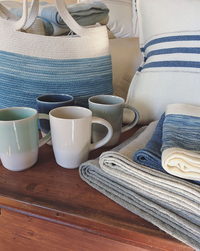 @camdenclayco and @swansislandco are getting co-co-cozy this summer with a brand new collaborative project! Stop in to @swansislandco's Camden or Northport locations to see these exclusive co-branded coffee mugs in four soft summery hues. Also available on the Swan's Island Company website. 🌊☕️🌊 @austinpsmithceramics #camdenclayco #swansislandco #handmade #handwoven #madeinmaine #shoplocal #supporthandmade #bluehues #ceramics #porcelain #coffeemug #buildersmug #collab #collaboration