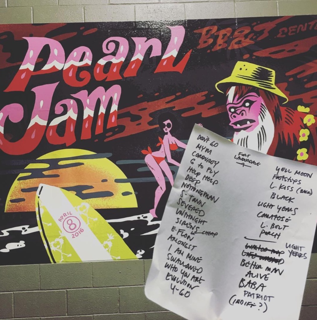 Show Setlist Posted By The Band