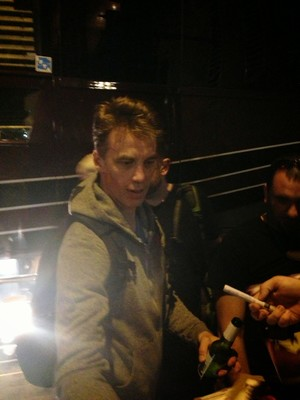 Matt signing autographs after our Soundgarden show | Austin 2013
