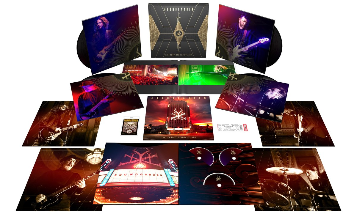 In 2019, Soundgarden's Live From The Artists Den Was Released Across All Platforms And Services. The show features all 29 songs performed on February 17th 2013. Click the image above to purchase a physical copy.