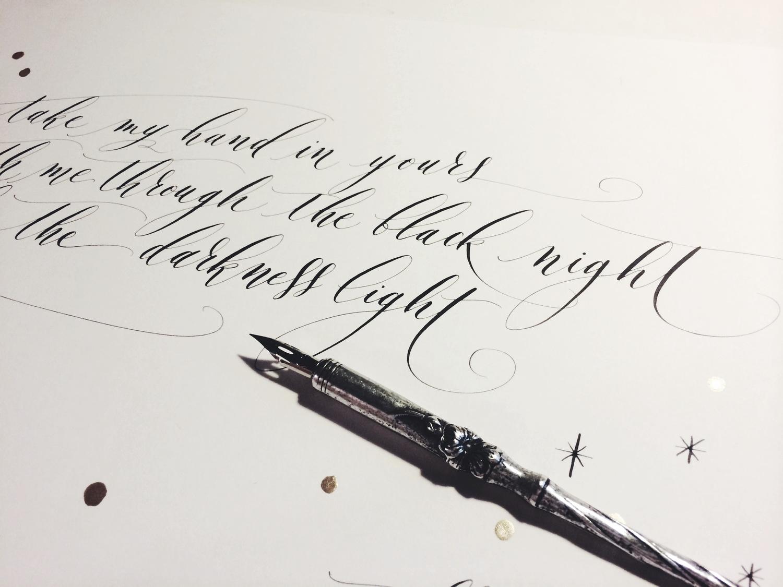 Lamplighter London Modern Calligraphy Haiku