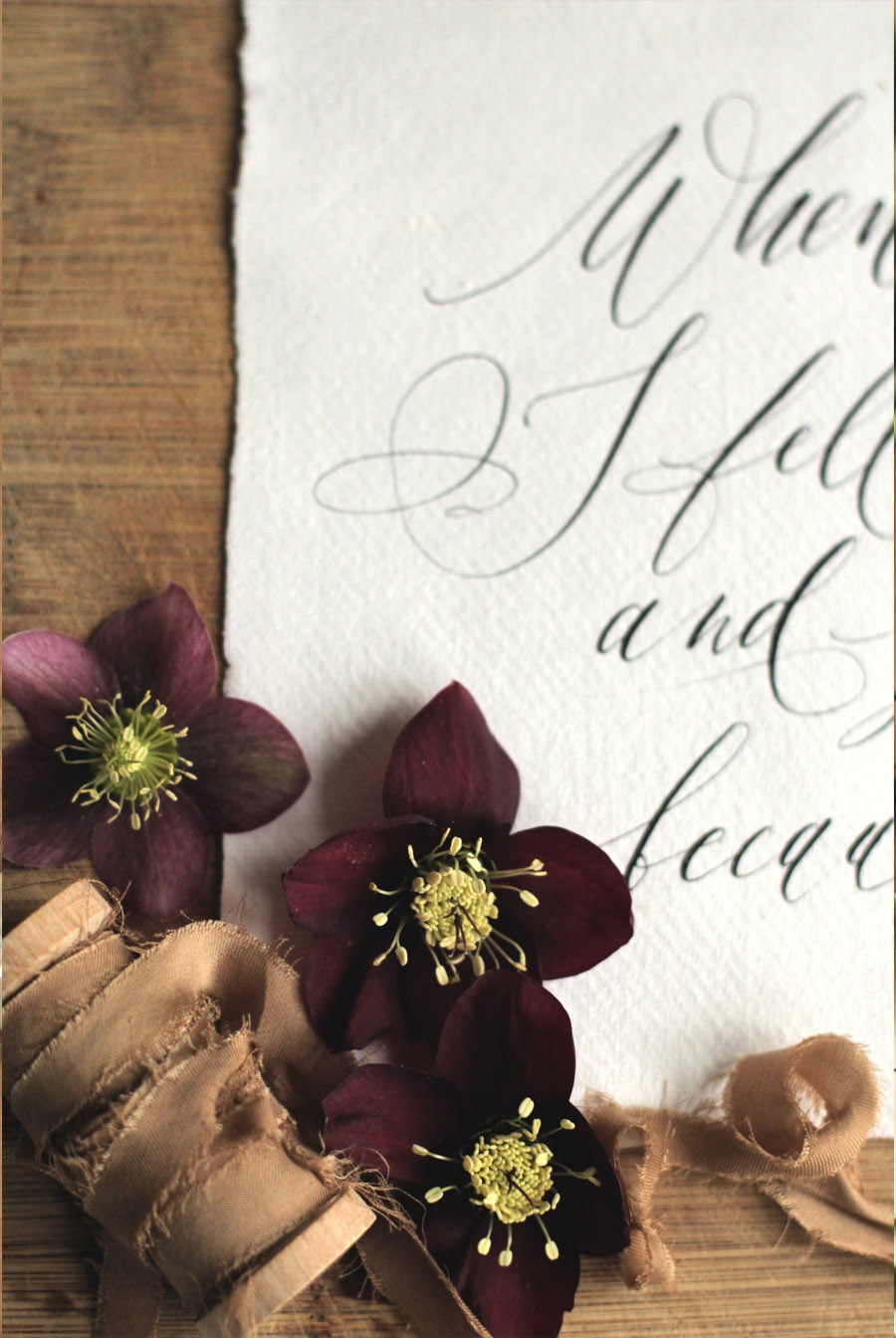 Lamplighter London Modern Calligraphy, shoot by Westwood Design