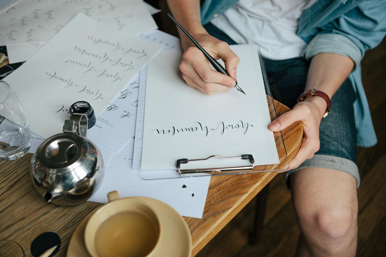 Modern Calligraphy Workshop Lamplighter London
