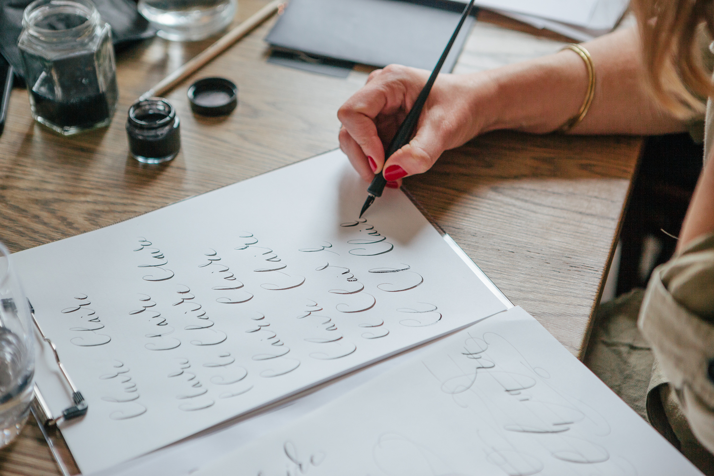 Modern Calligraphy Workshop Lamplighter London Modern Calligraphy Workshops by Lamplighter London