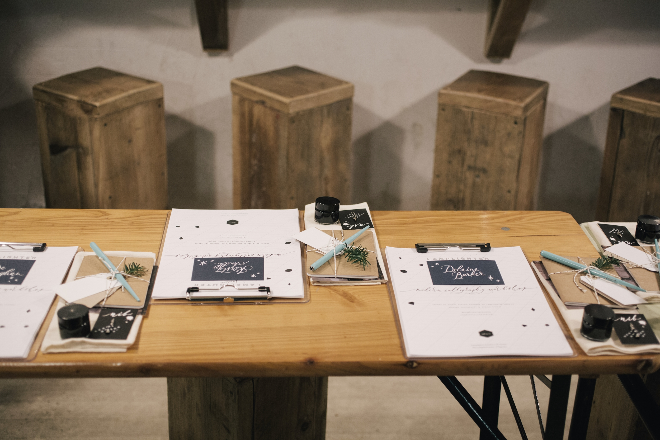 Modern Calligraphy Workshops by Lamplighter London