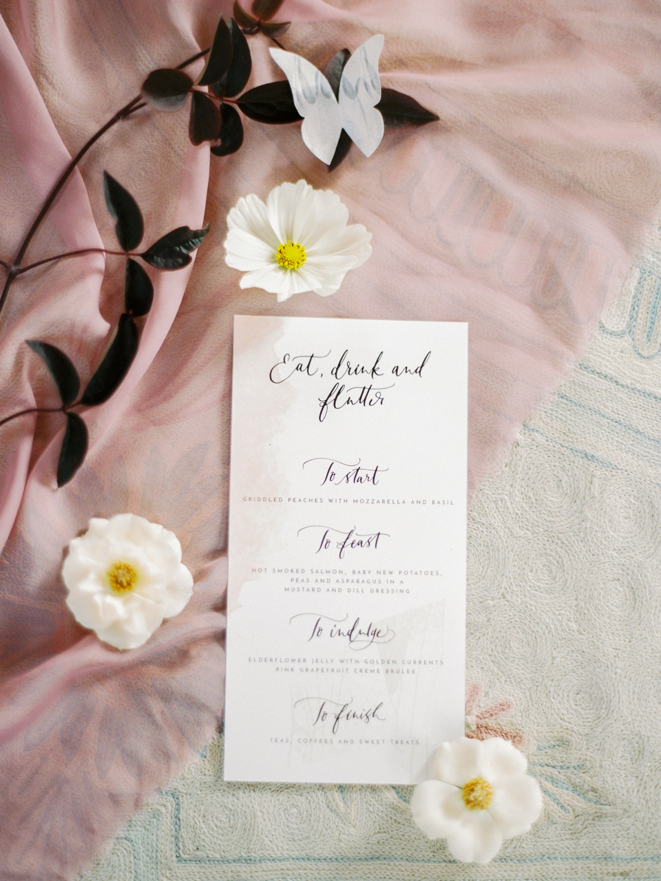 Photography by Marion Heurteboust. Styled by Knot and Pop. Calligraphy by Lamplighter London.