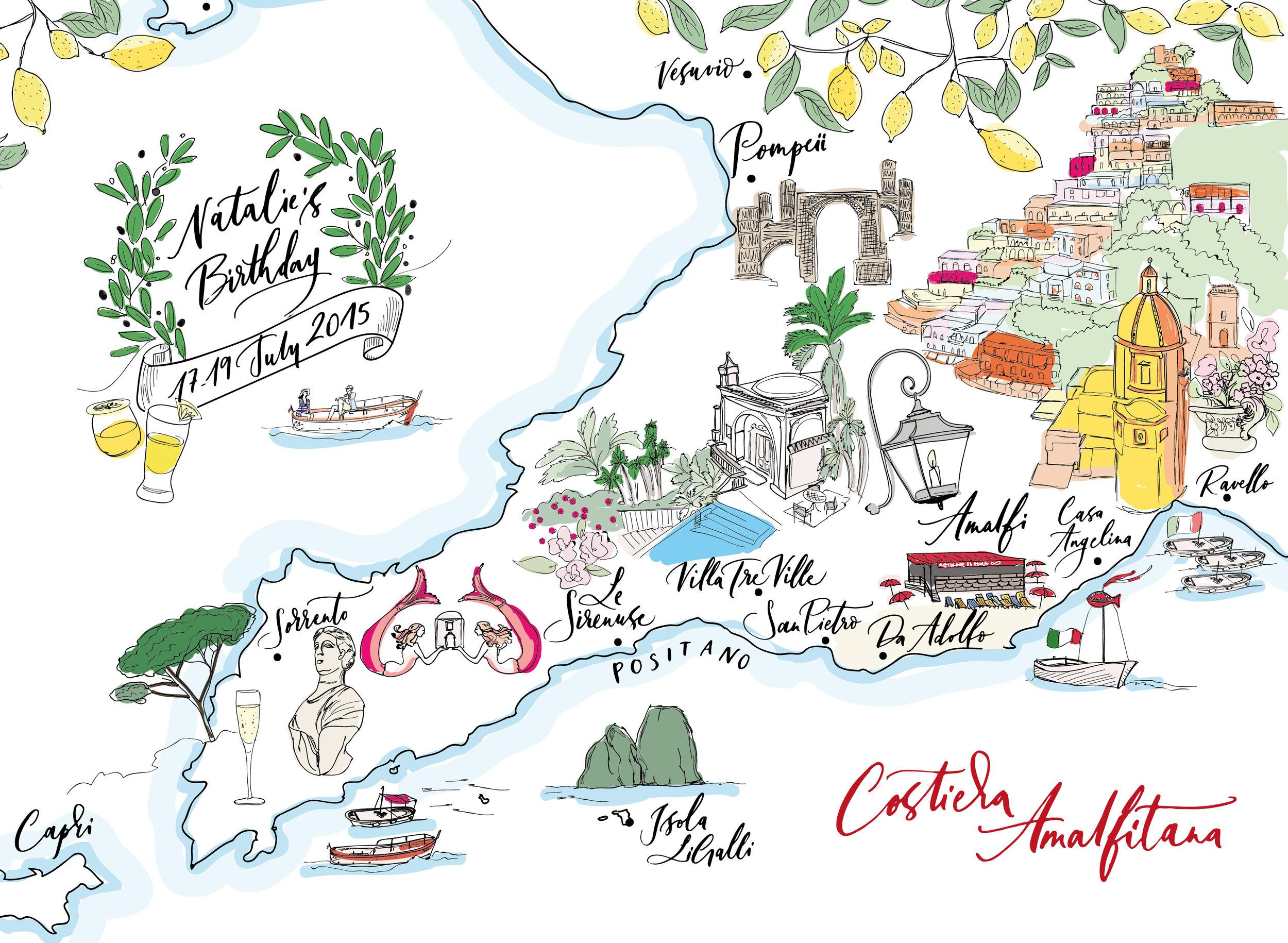 Lamplighter London Amalfi Map