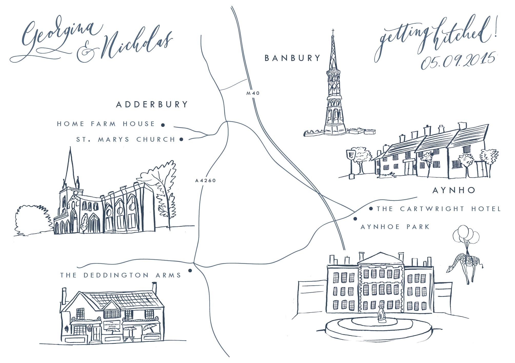 Aynhoe Park Map Wedding