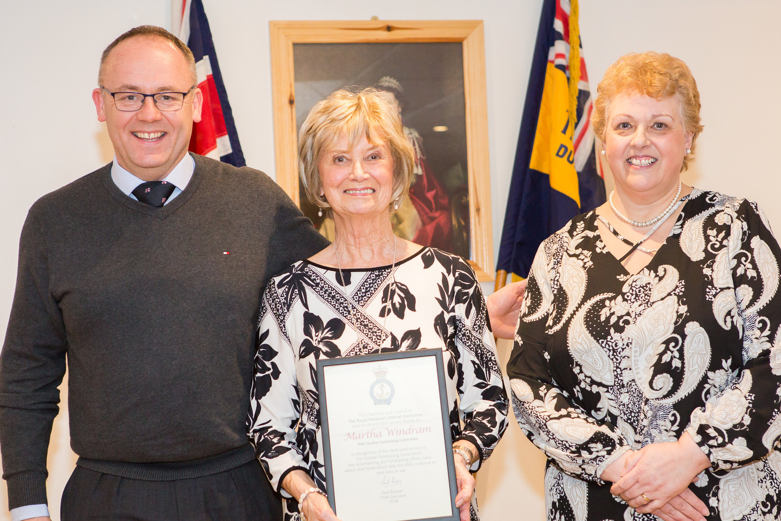 Martha Windram (RNLI award for outstanding service to the Fundraising Committee)