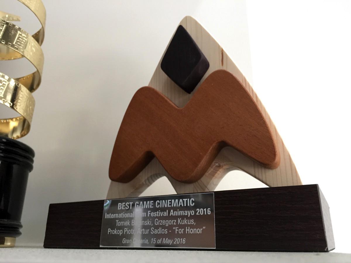 Best Game Cinematic Award International Film Festival Animayo 2016 -