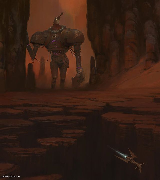 The new piece with a giant wooden robot. . . . . . #fantasy #mooeti #giant #robot #procreate #illustration #artstation #artwork #artist #painting #digitalpainting #conceptart #instaart #artistsoninstagram #digitalart #fantasyart #fantasyartwork #worldbuilding #visualdevelopment #storytelling #ip