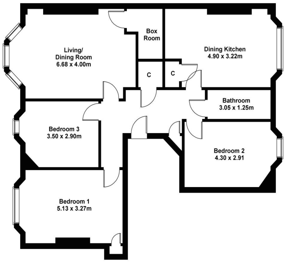 This is the floor plan taken from the original listing.