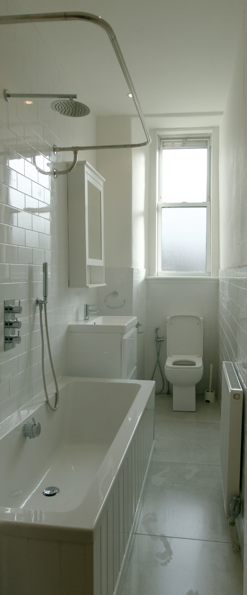 The much improved bathroom!