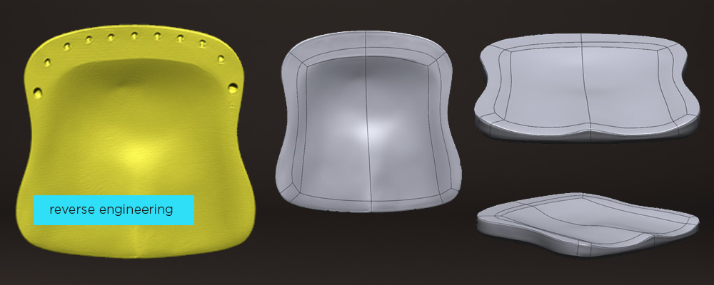 3D scan of a product to produce CAD model