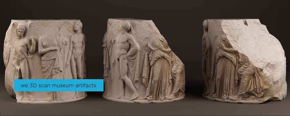 Museum 3D scan, London, UK