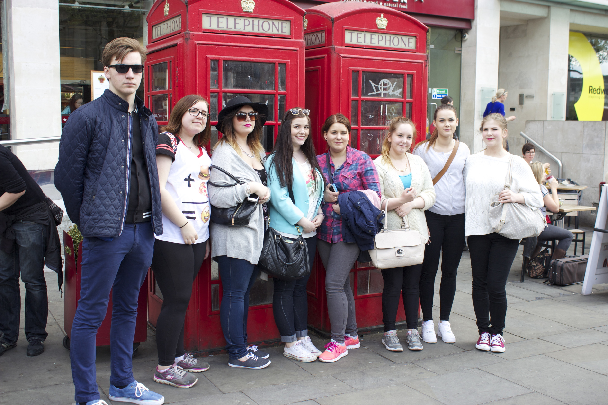 Students from Lofoten explore London. Photo: Marte Lundberg