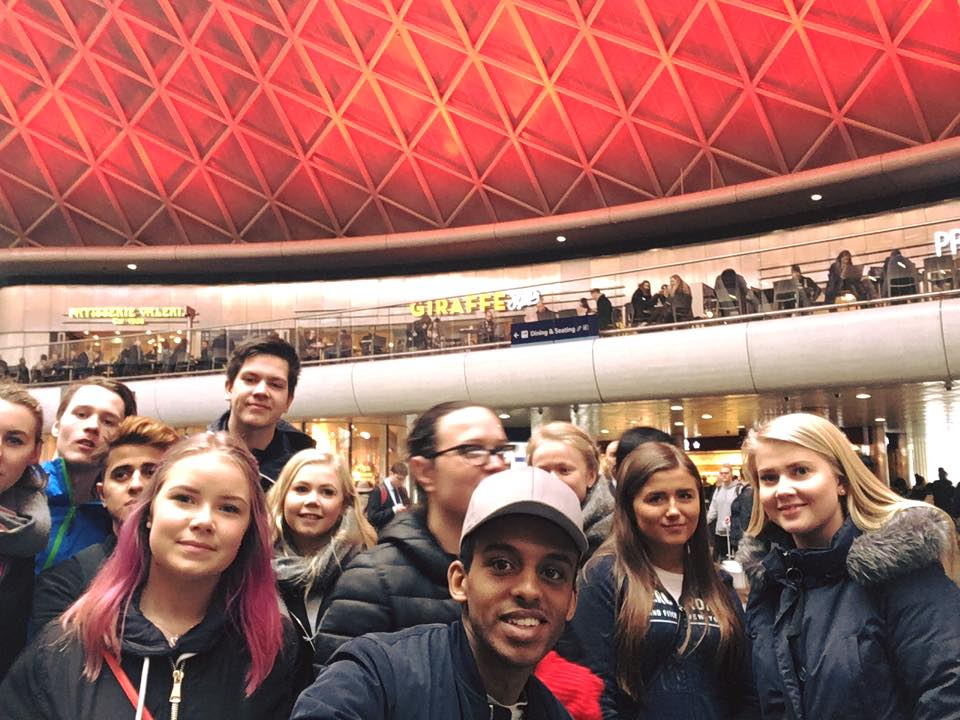 A group of Norwegian students during their trip to London with the Internship Programme.