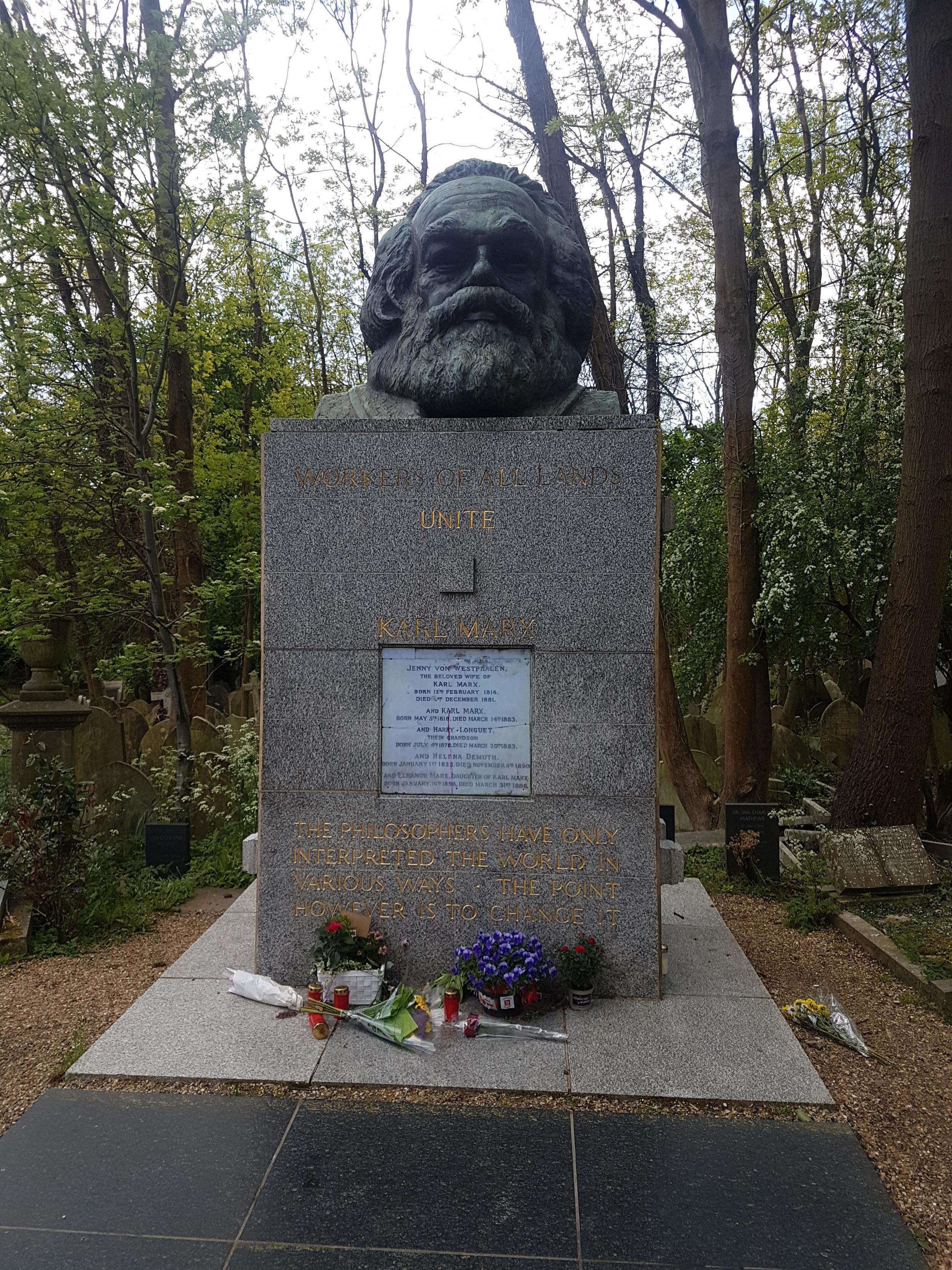 Gravestone of Karl Marx