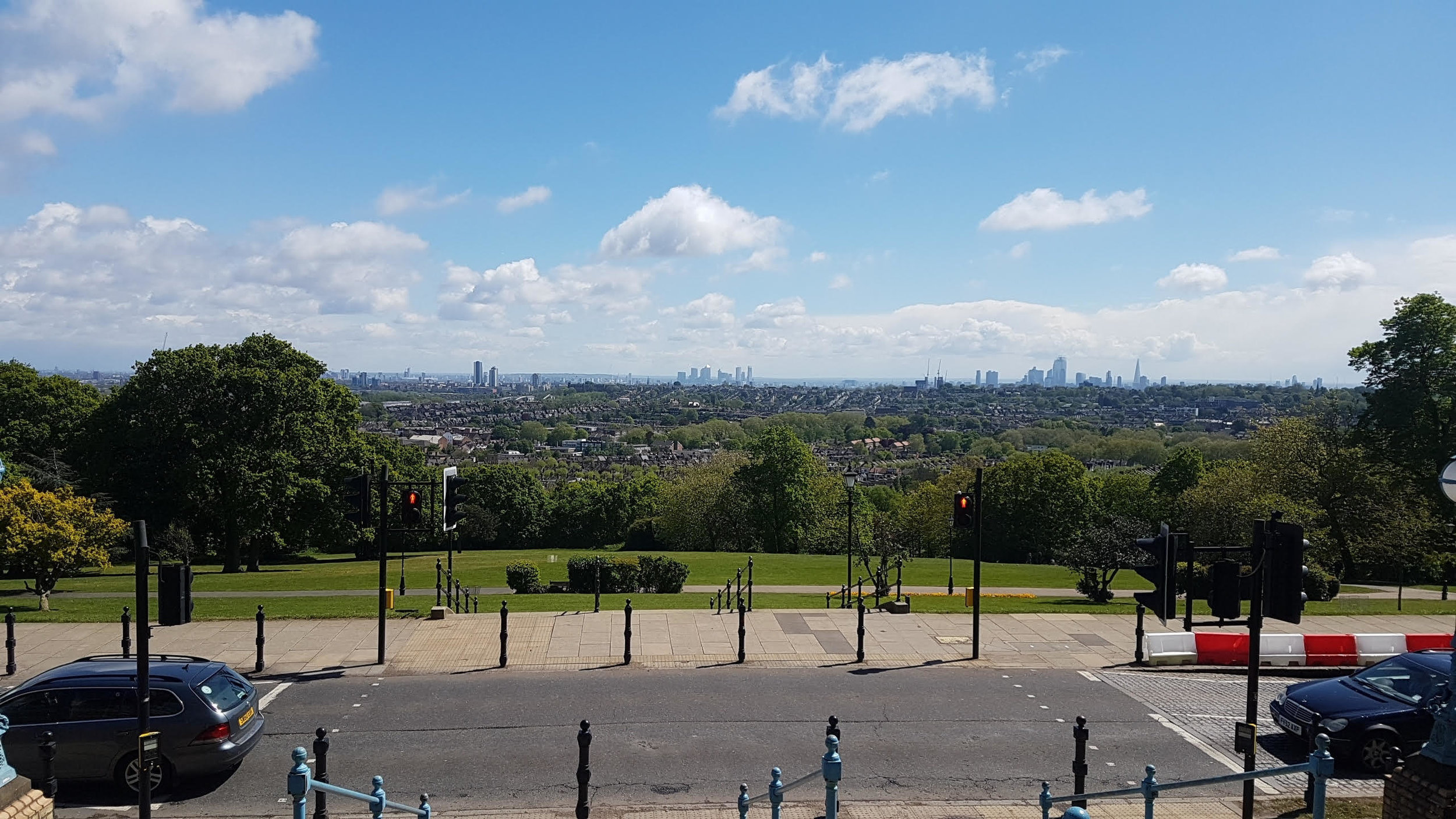 View over London from Alexandra Palace