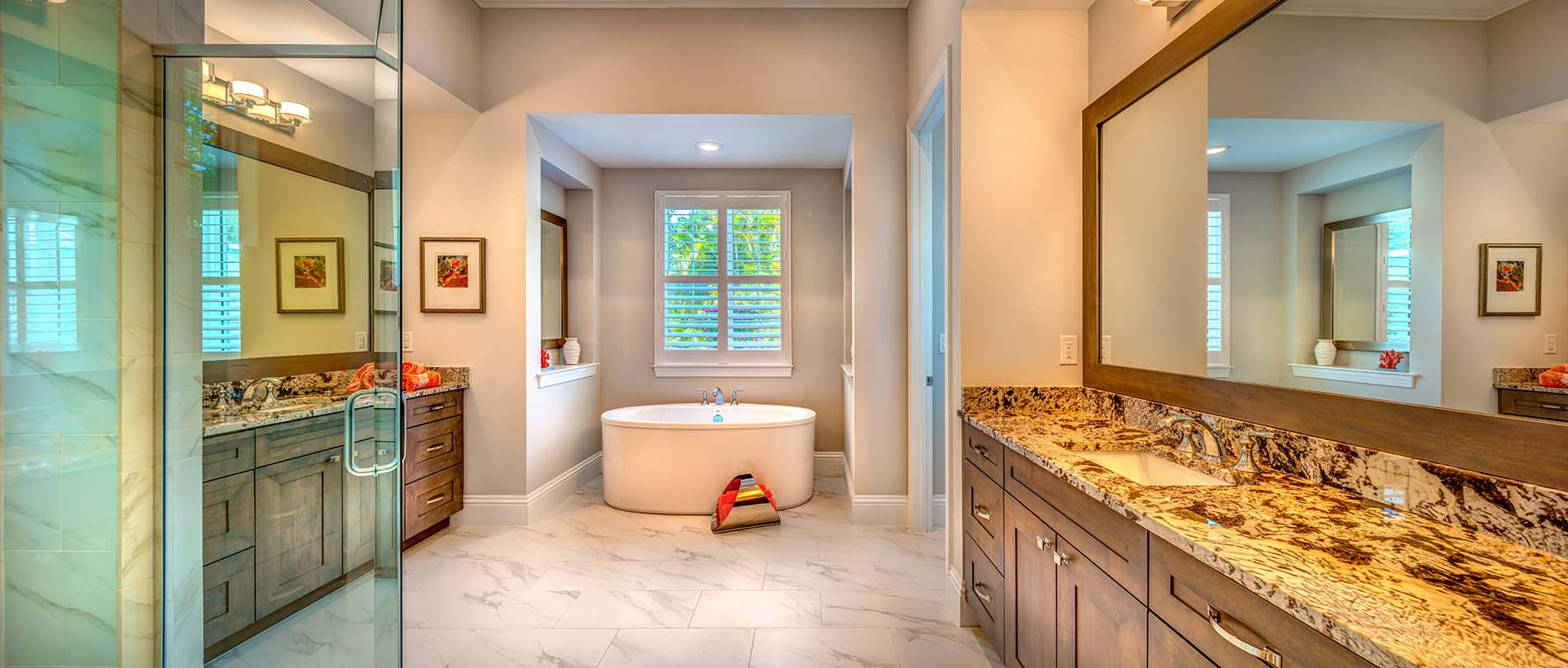 Luxury Master Bathroom Sarasota Custom Homes