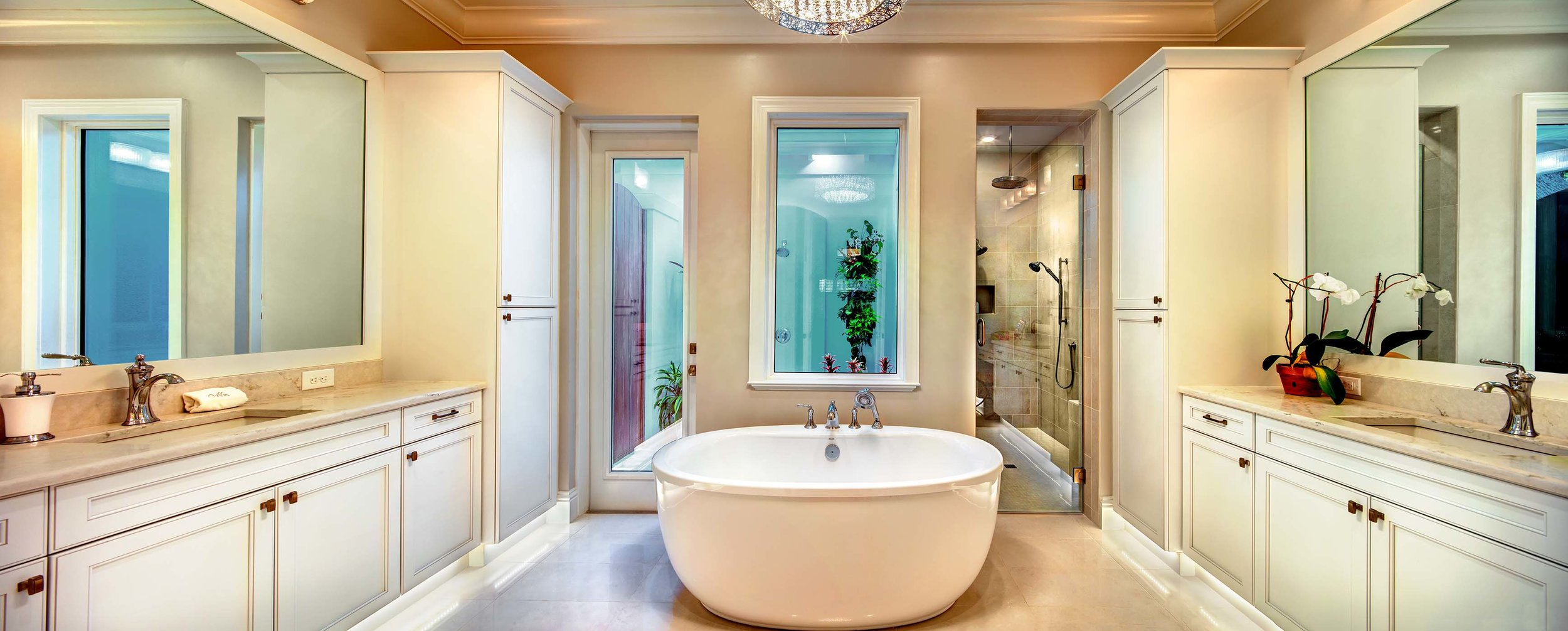 Sarasota Custom Home Luxury Master Bathroom