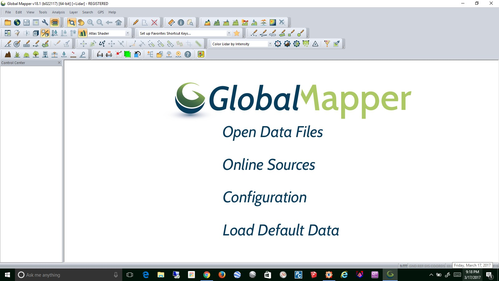 Open up Global Mapper.   Open Data Files, navigate to the DWG and open it.  Or Drag & Drop the file into the software.