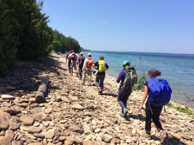 """I wanted to bring you all on the Extreme Expedition with Father and the Sisters and Staff, in the Bruce Peninsula in Canada! In order to come to the core of what is in our hearts, we need Silence.  """"In the Silence of the Heart God Speaks"""" (St. Mother Teresa)"""